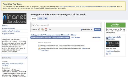 facebook Admin Page